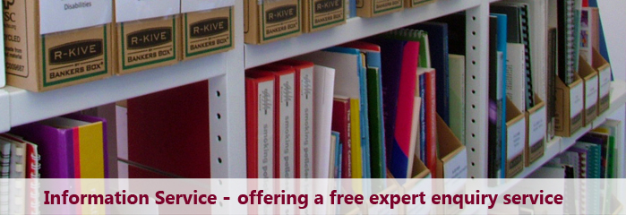 ASH Scotland Information Service banner - books and message about free expert information service